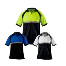 Blauer Colorblock Performance Patrol Polo